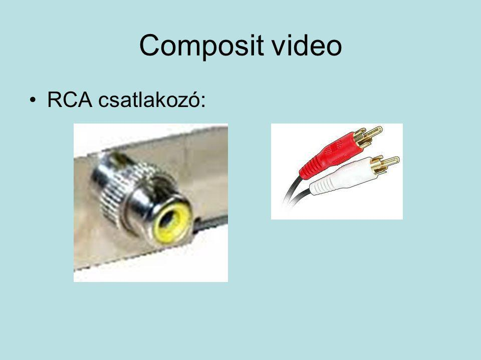 Composit video RCA csatlakozó: