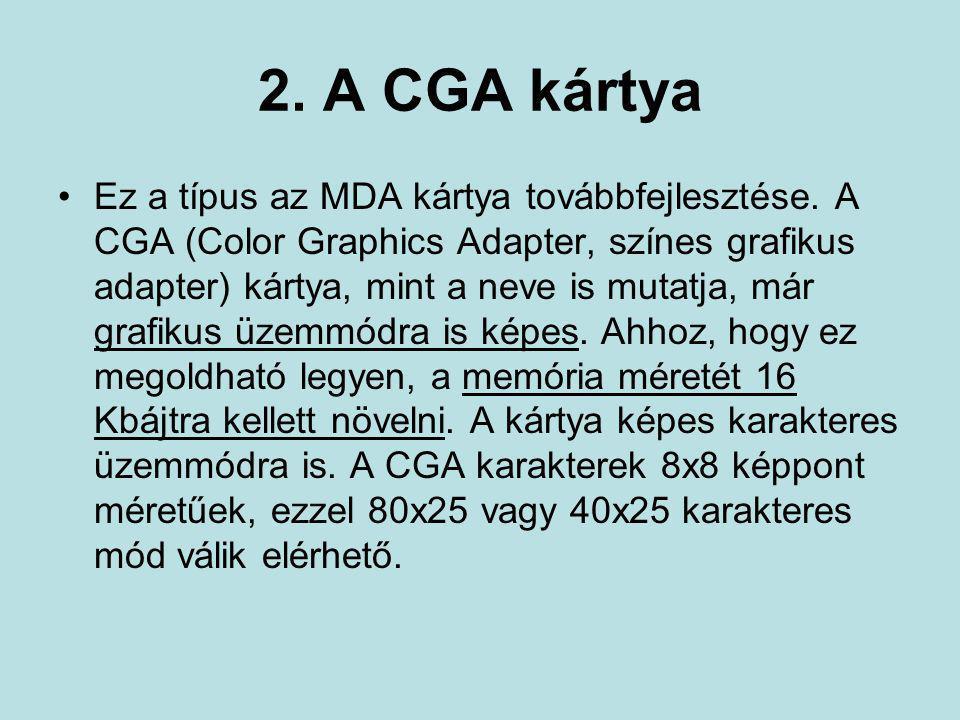 2. A CGA kártya