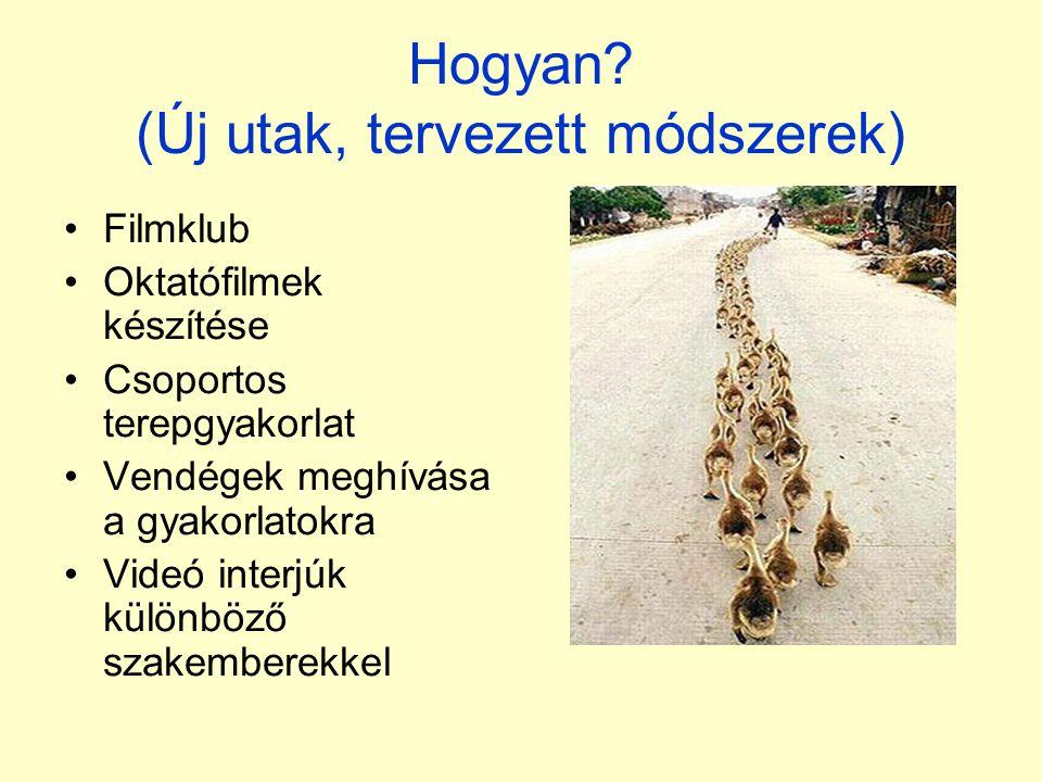 Hogyan (Új utak, tervezett módszerek)