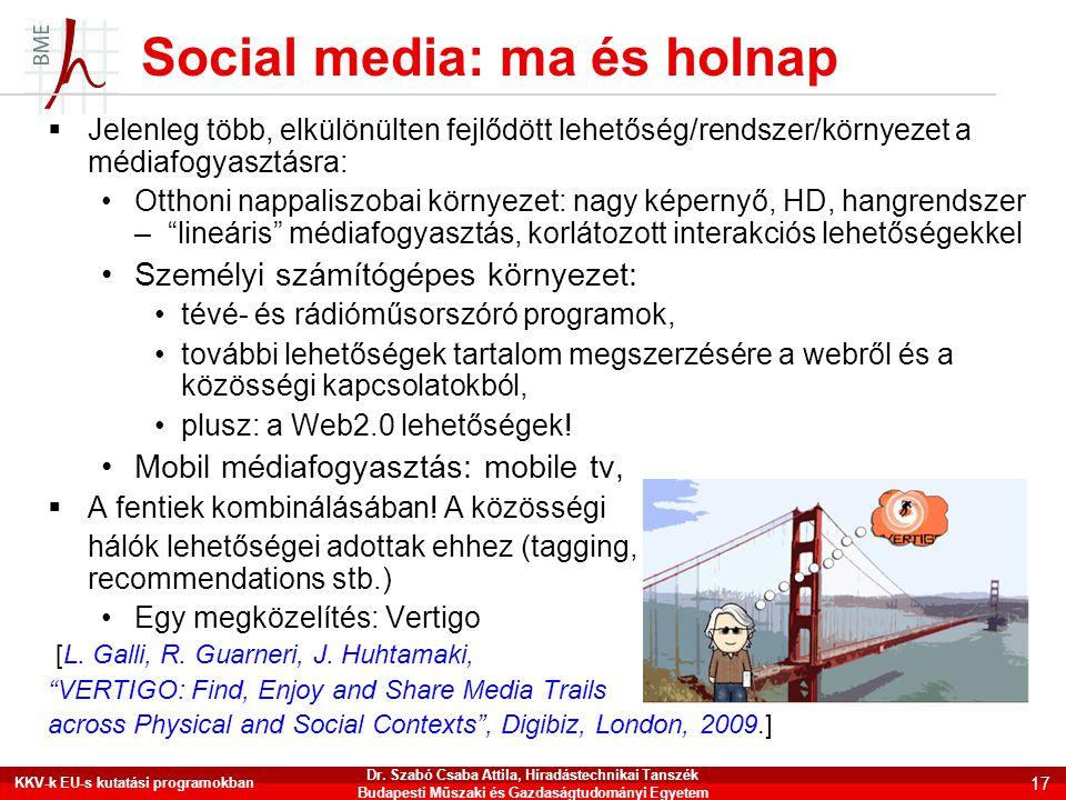 Social media: ma és holnap
