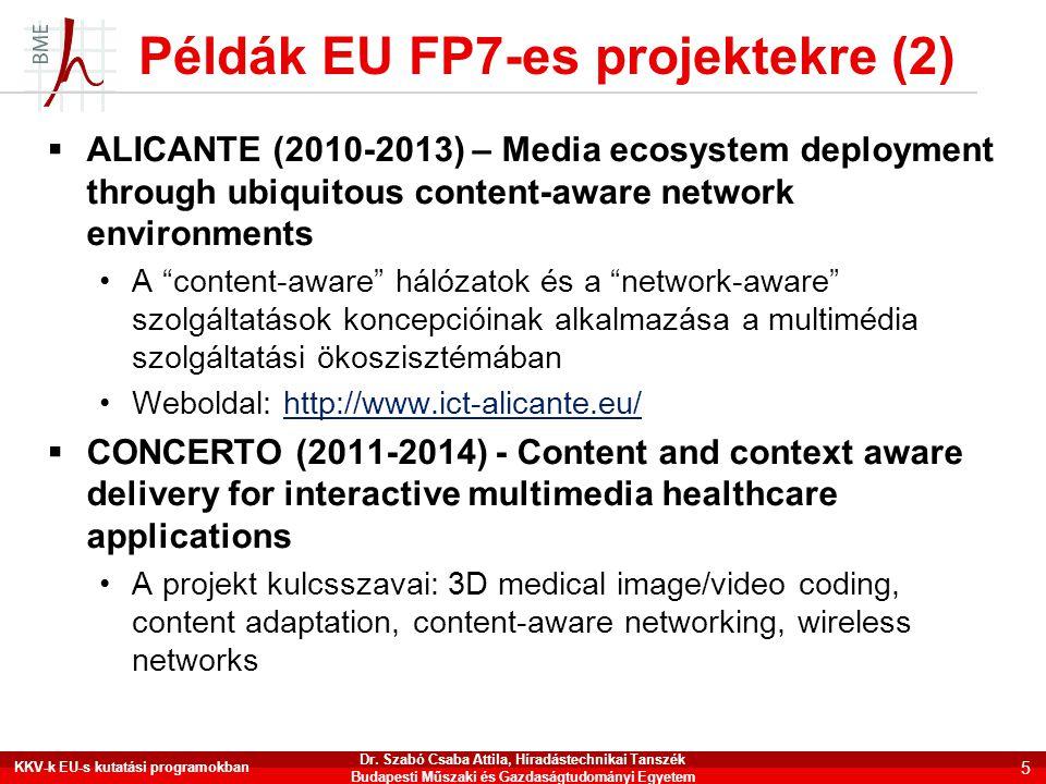 Példák EU FP7-es projektekre (2)
