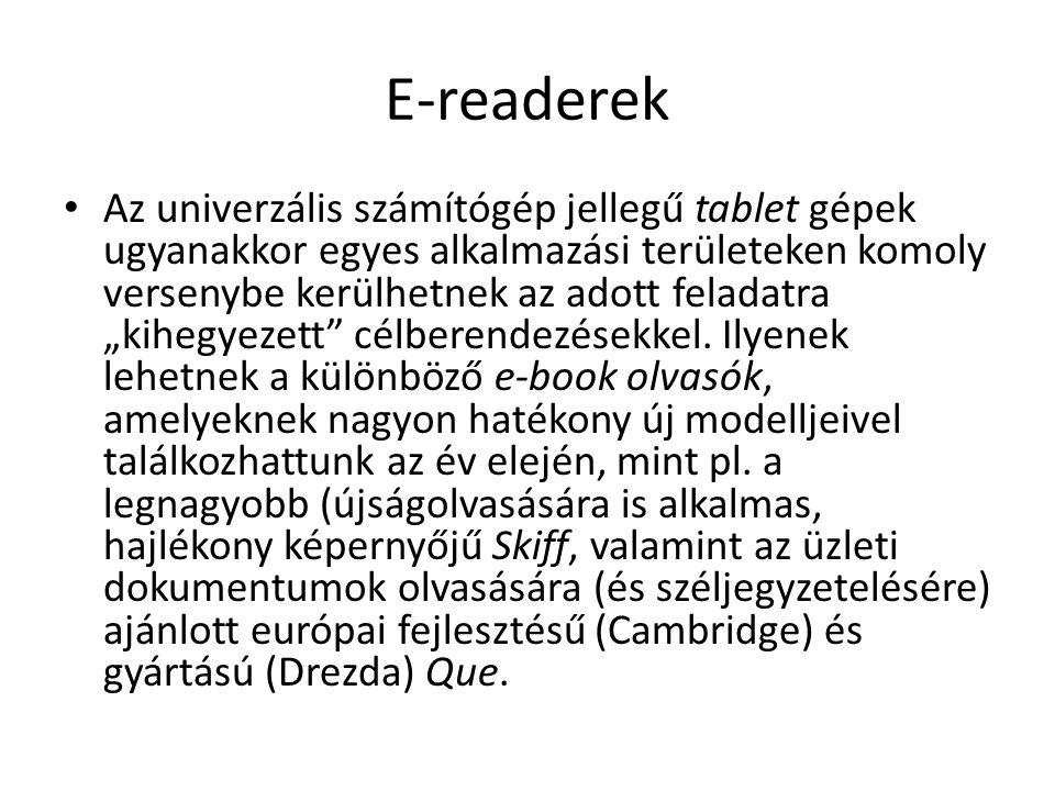 E-readerek