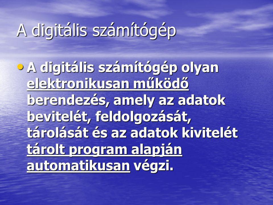 A digitális számítógép