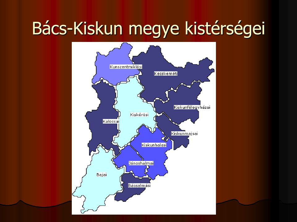 Bács-Kiskun megye kistérségei
