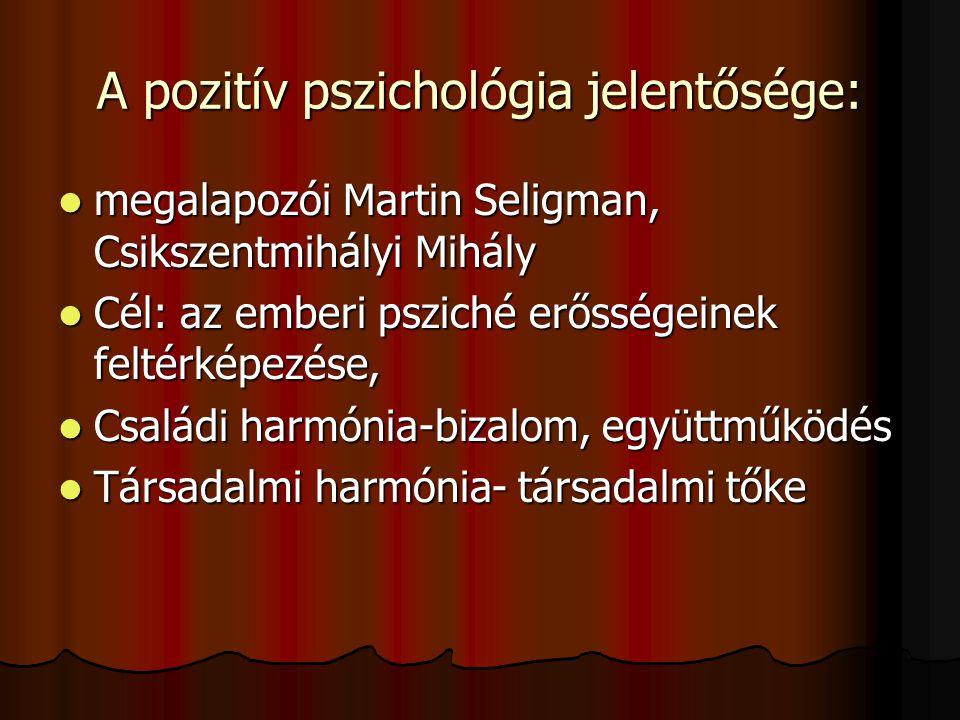 A pozitív pszichológia jelentősége: