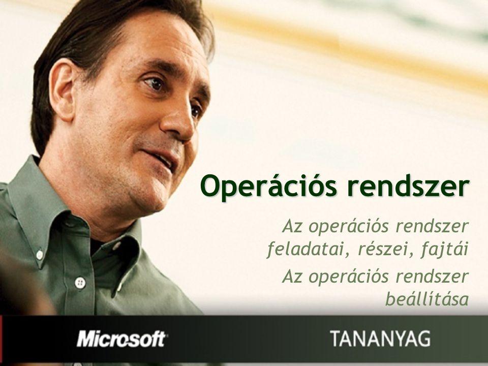 Operációs rendszer Az operációs rendszer feladatai, részei, fajtái