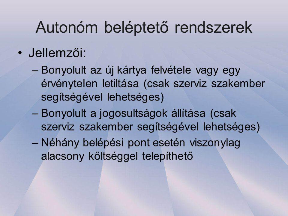 Autonóm beléptető rendszerek
