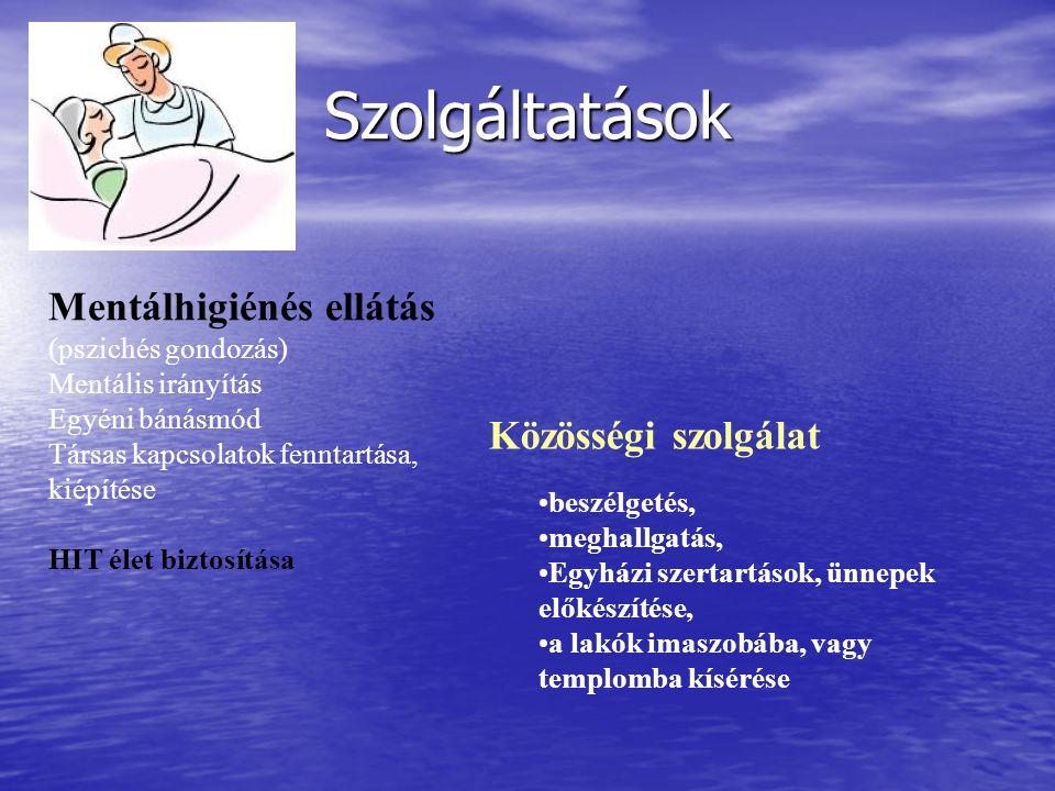 Szolgáltatások Mentálhigiénés ellátás (pszichés gondozás)