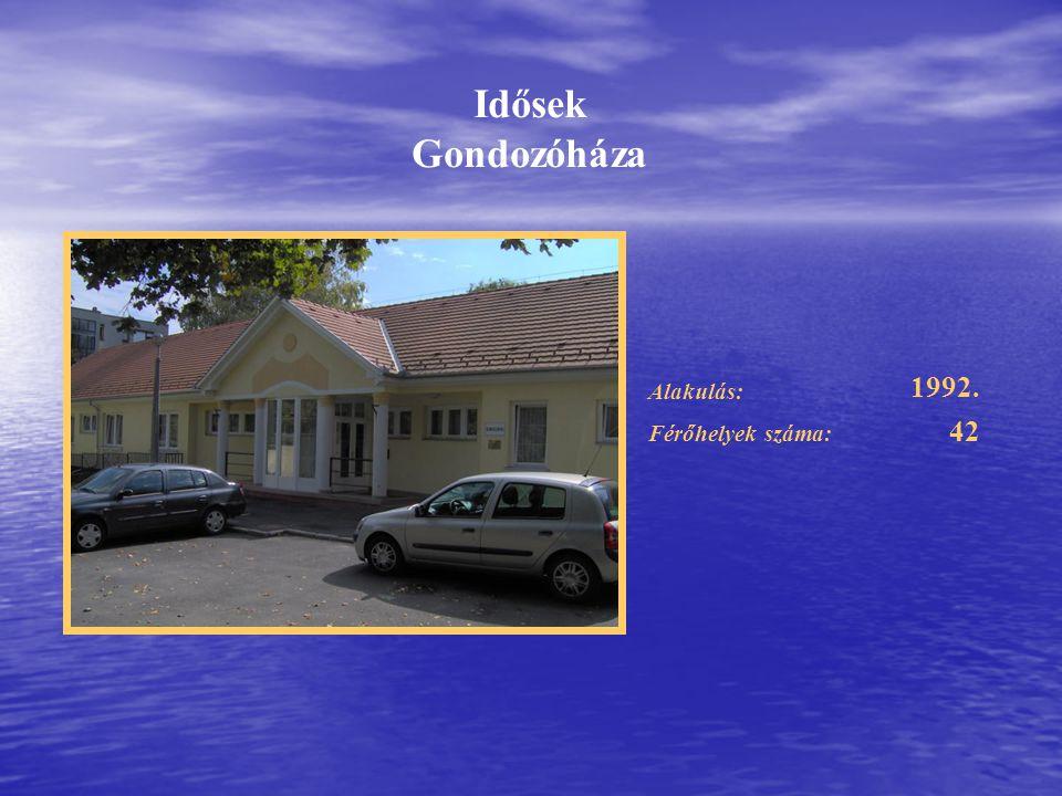 Idősek Gondozóháza 1992. Alakulás: Férőhelyek száma: 42