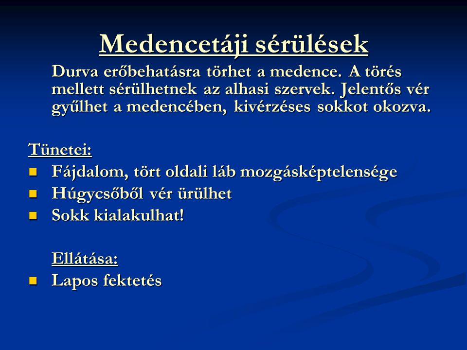 Medencetáji sérülések