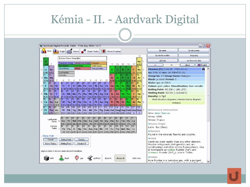 Kémia - II. - Aardvark Digital