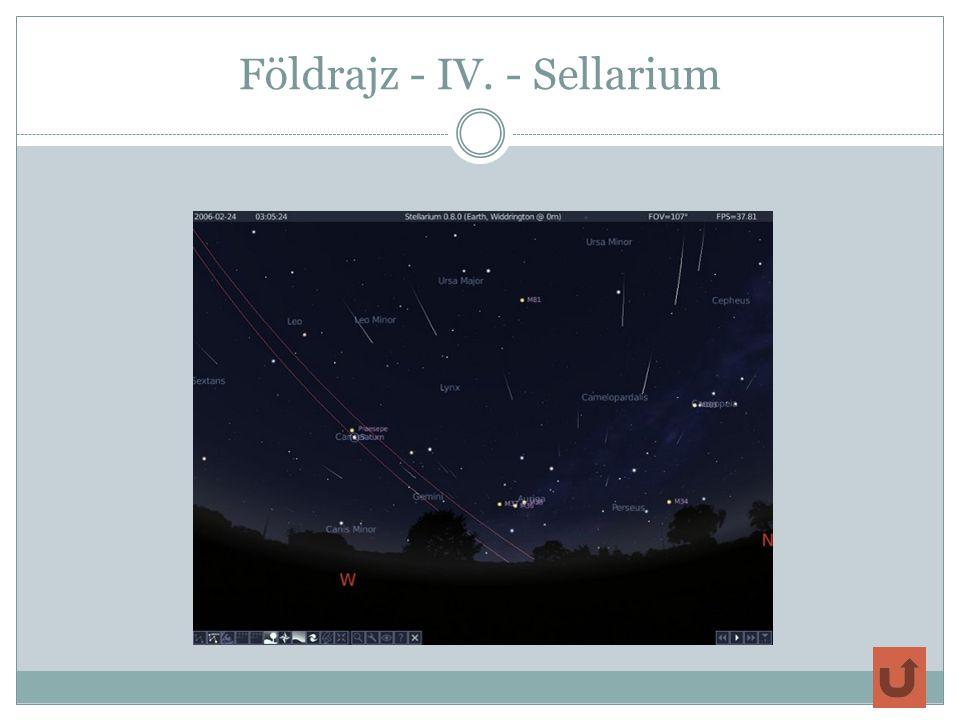 Földrajz - IV. - Sellarium