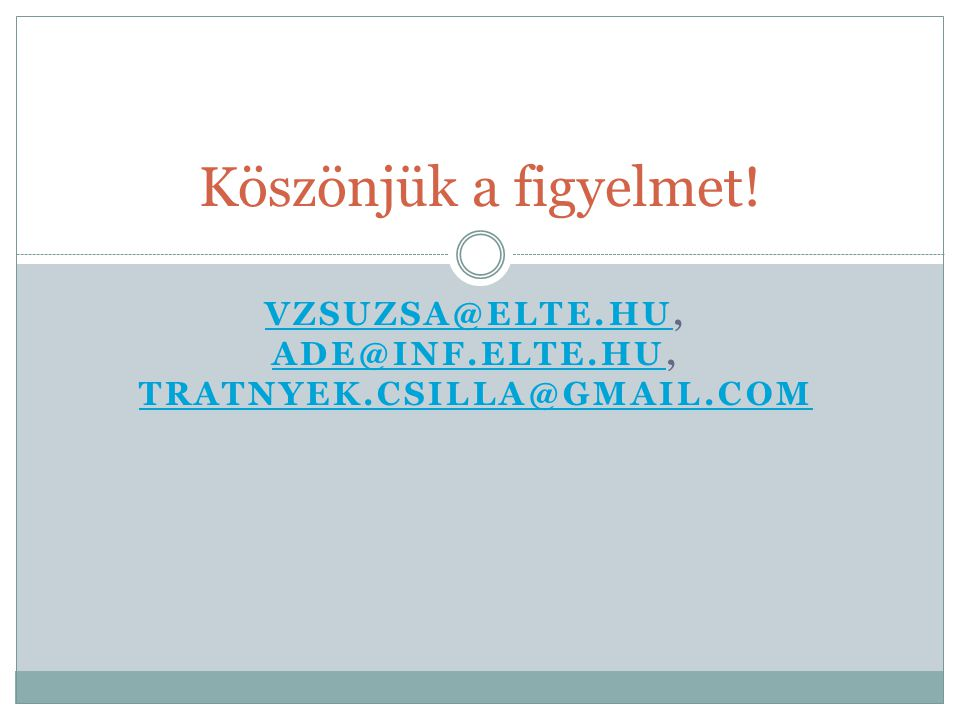 vzsuzsa@elte.hu, ade@inf.elte.hu, tratnyek.csilla@gmail.com