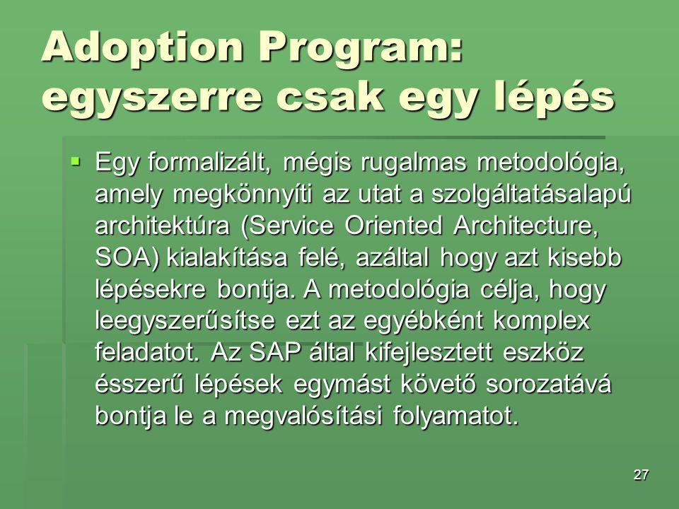 Adoption Program: egyszerre csak egy lépés