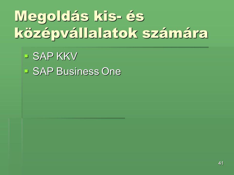 Megoldás kis- és középvállalatok számára