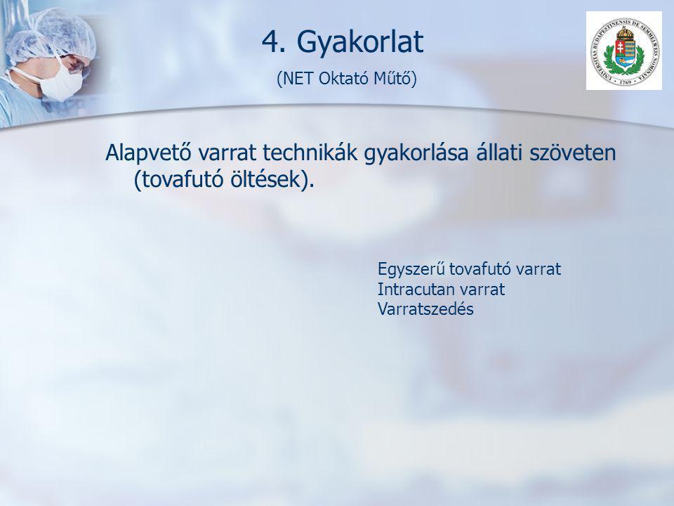 4. Gyakorlat (NET Oktató Műtő)