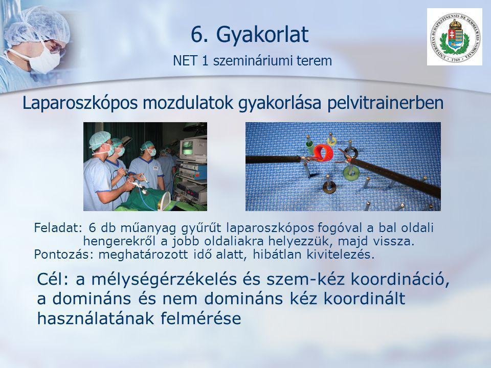 6. Gyakorlat NET 1 szemináriumi terem