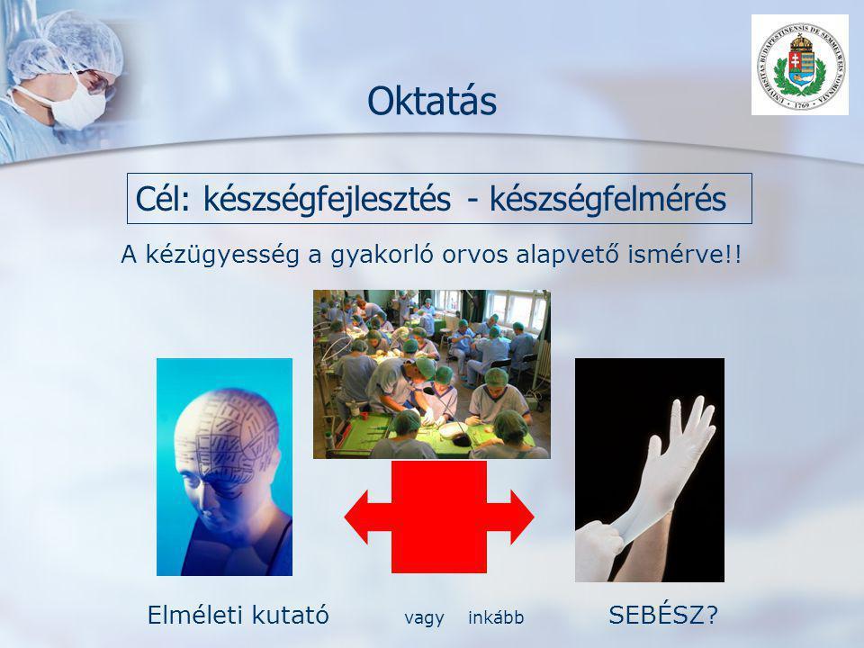 Oktatás Cél: készségfejlesztés - készségfelmérés