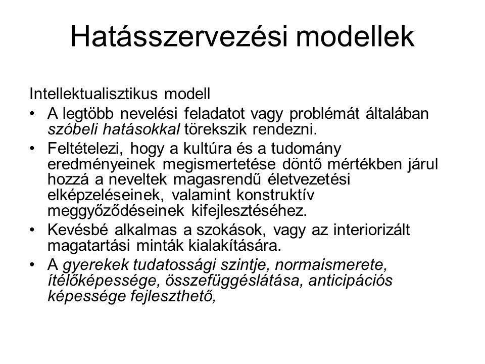 Hatásszervezési modellek
