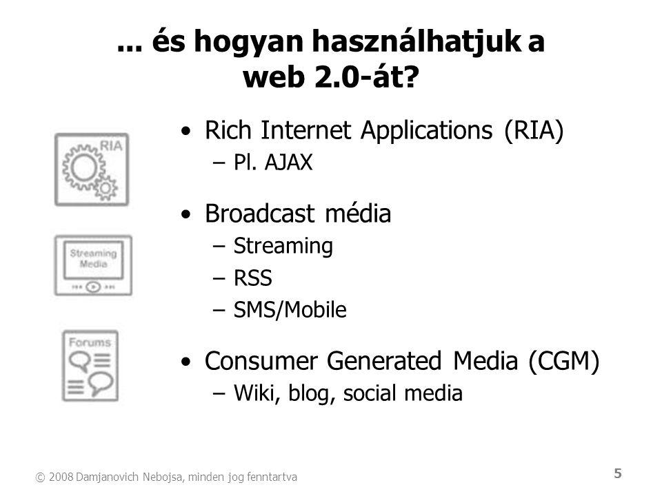 ... és hogyan használhatjuk a web 2.0-át