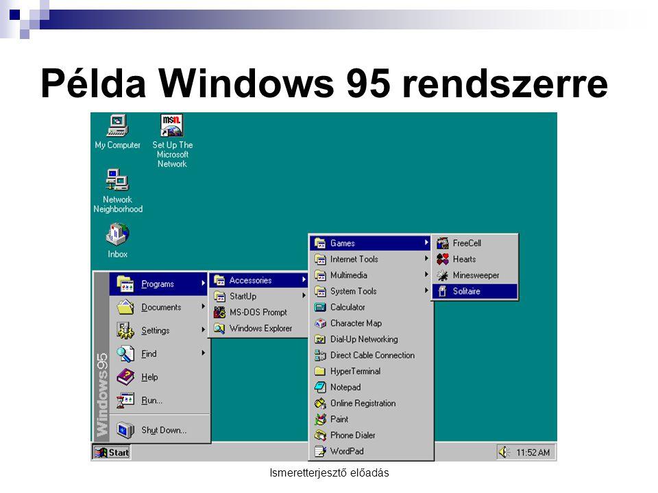Példa Windows 95 rendszerre