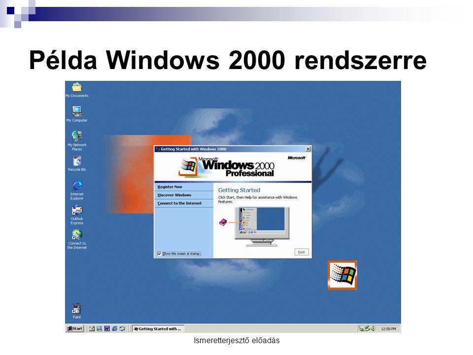 Példa Windows 2000 rendszerre