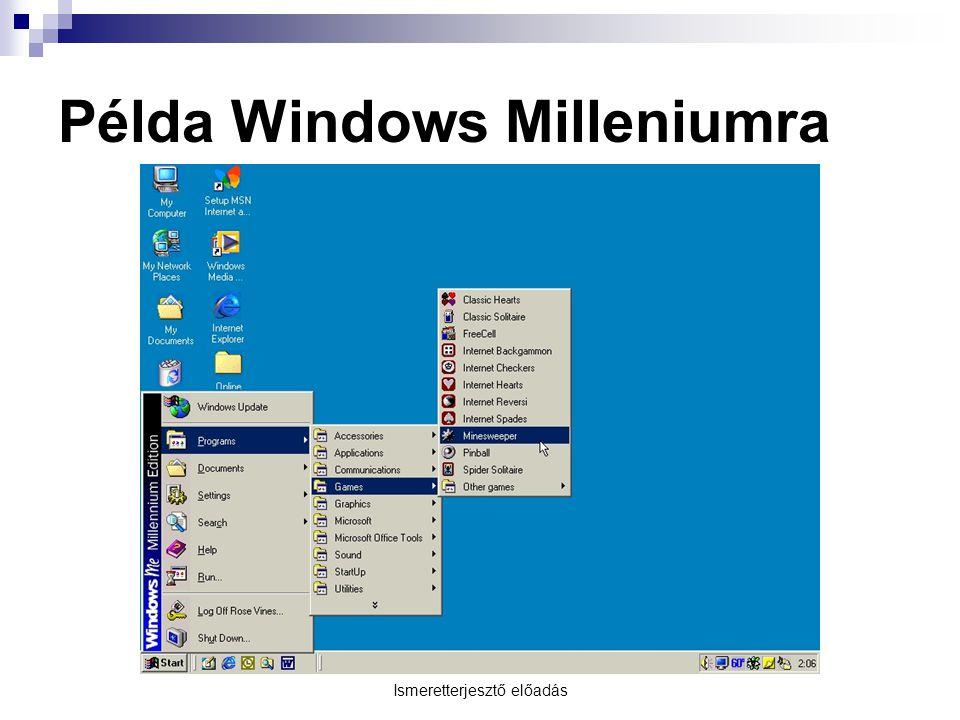 Példa Windows Milleniumra