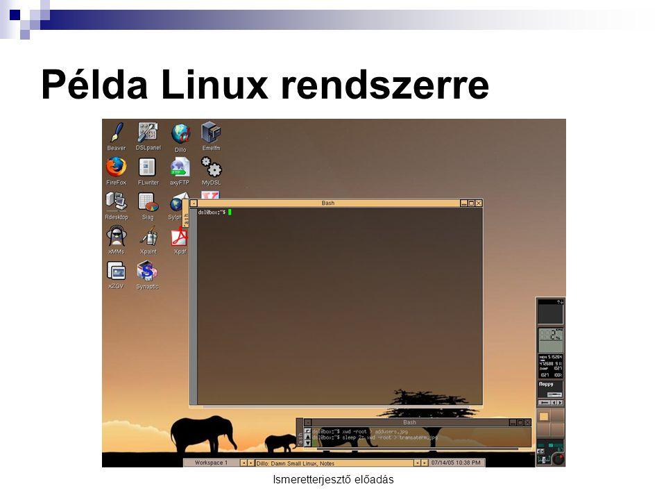 Példa Linux rendszerre