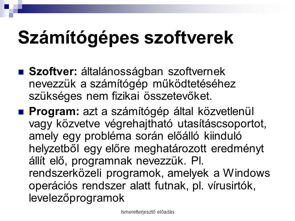 Számítógépes szoftverek
