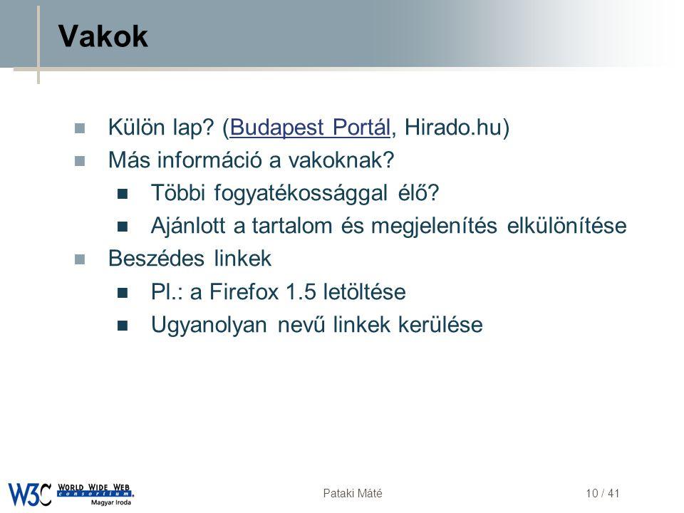 Vakok Külön lap (Budapest Portál, Hirado.hu)