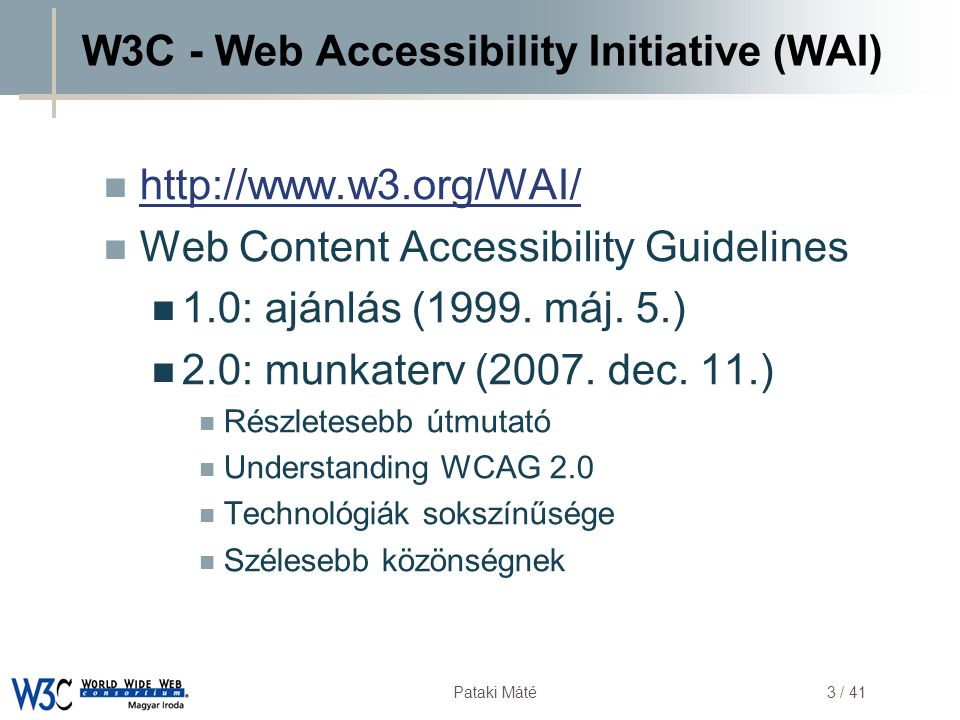 W3C - Web Accessibility Initiative (WAI)