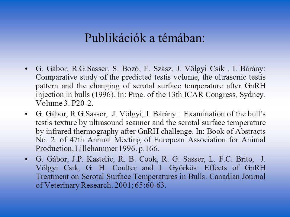 Publikációk a témában: