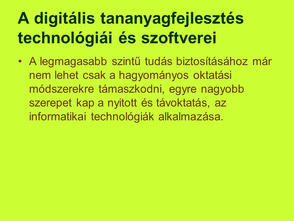A digitális tananyagfejlesztés technológiái és szoftverei
