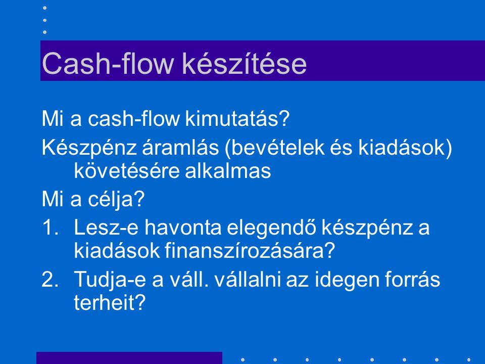 Cash-flow készítése Mi a cash-flow kimutatás