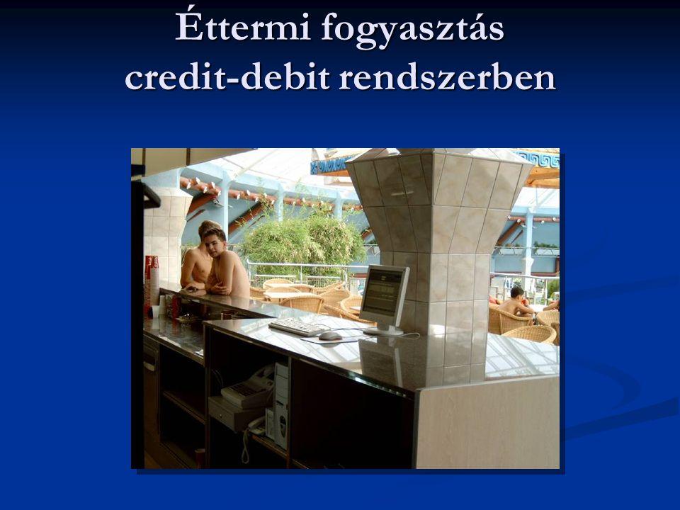 Éttermi fogyasztás credit-debit rendszerben