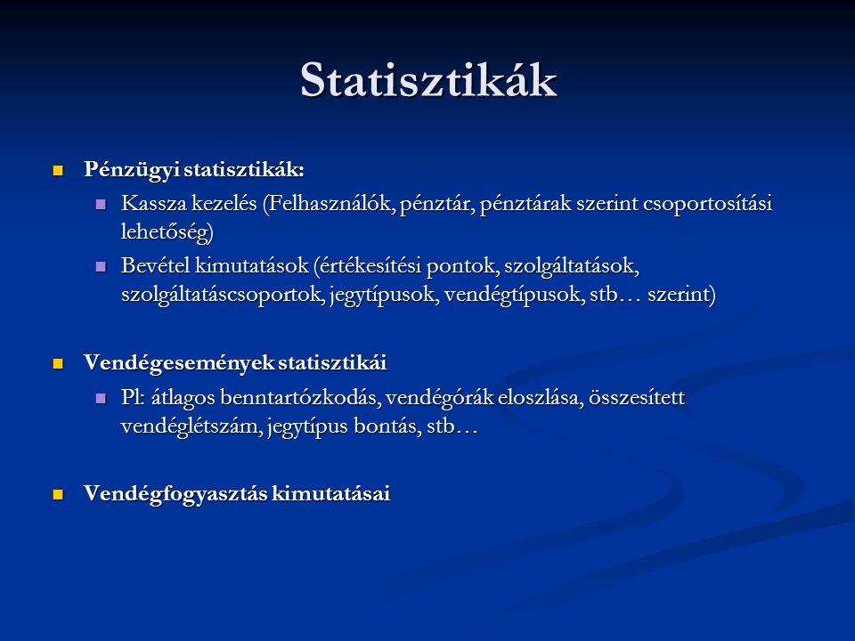 Statisztikák Pénzügyi statisztikák: