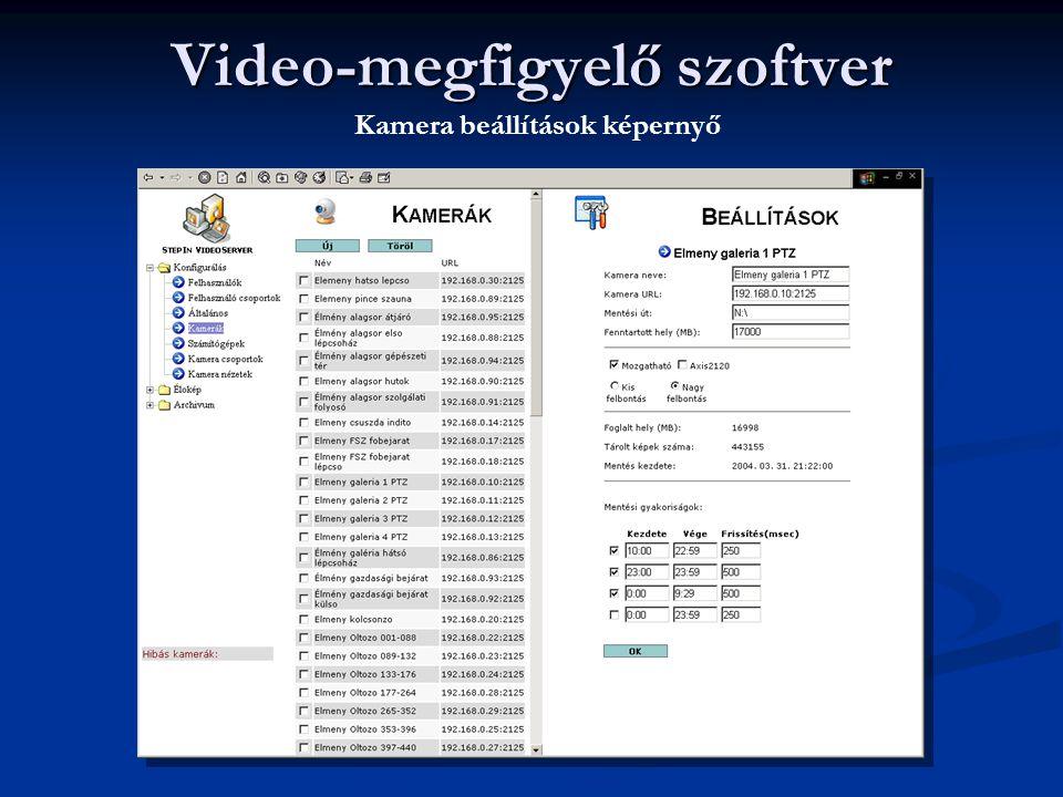 Video-megfigyelő szoftver