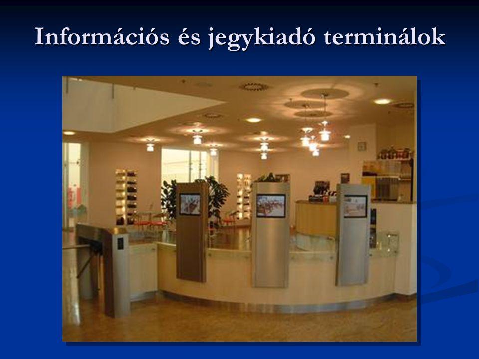 Információs és jegykiadó terminálok