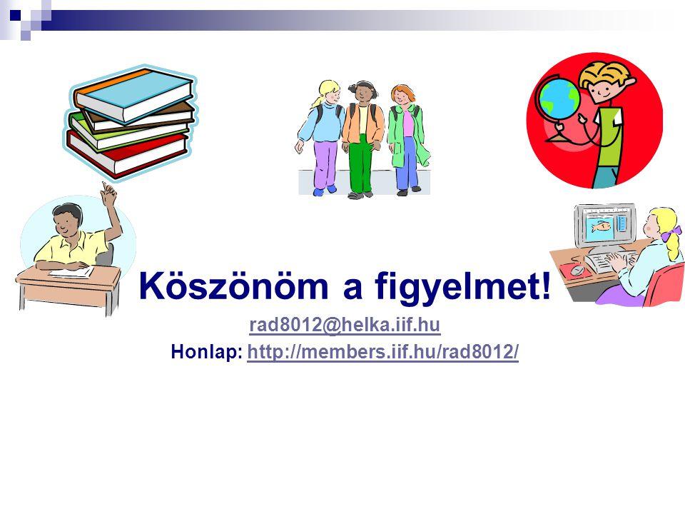 Honlap: http://members.iif.hu/rad8012/