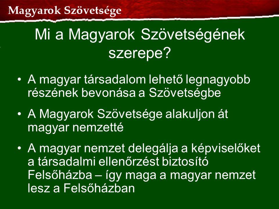 Mi a Magyarok Szövetségének szerepe