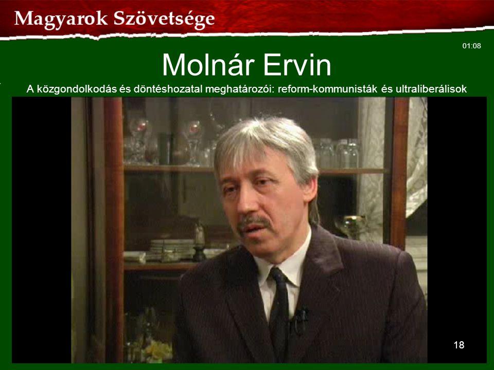 Molnár Ervin A közgondolkodás és döntéshozatal meghatározói: reform-kommunisták és ultraliberálisok