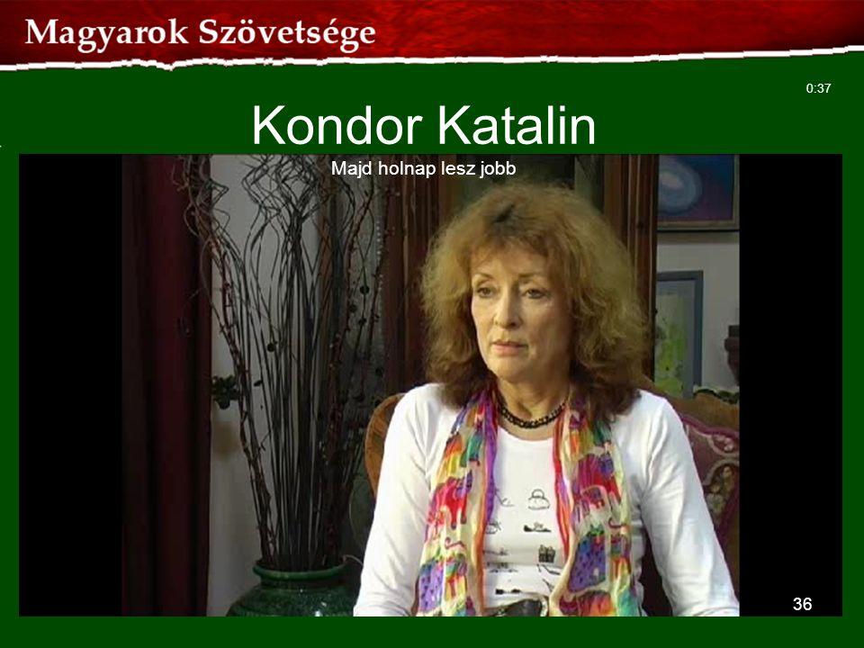 Kondor Katalin Majd holnap lesz jobb