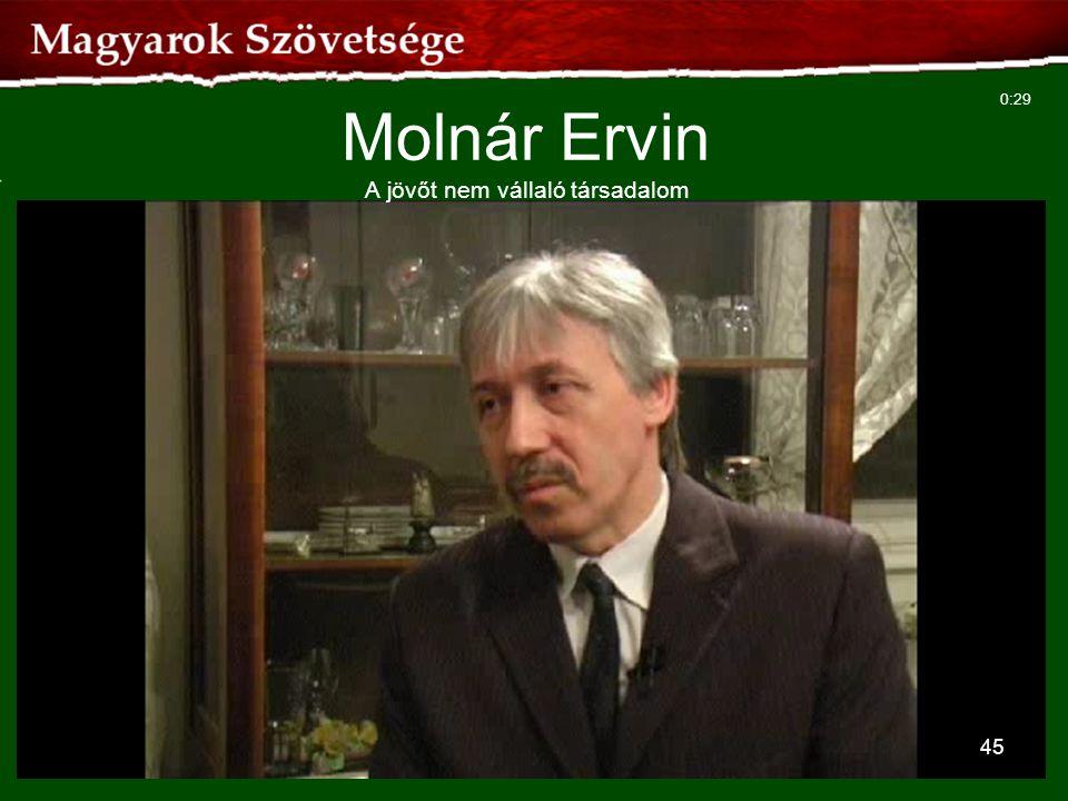 Molnár Ervin A jövőt nem vállaló társadalom