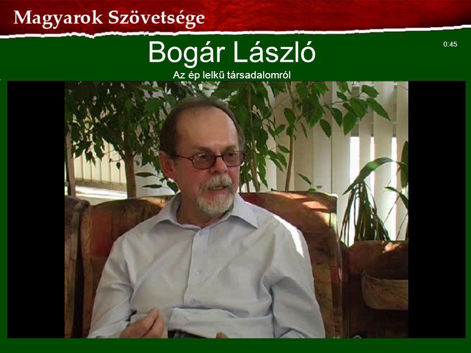 Bogár László Az ép lelkű társadalomról
