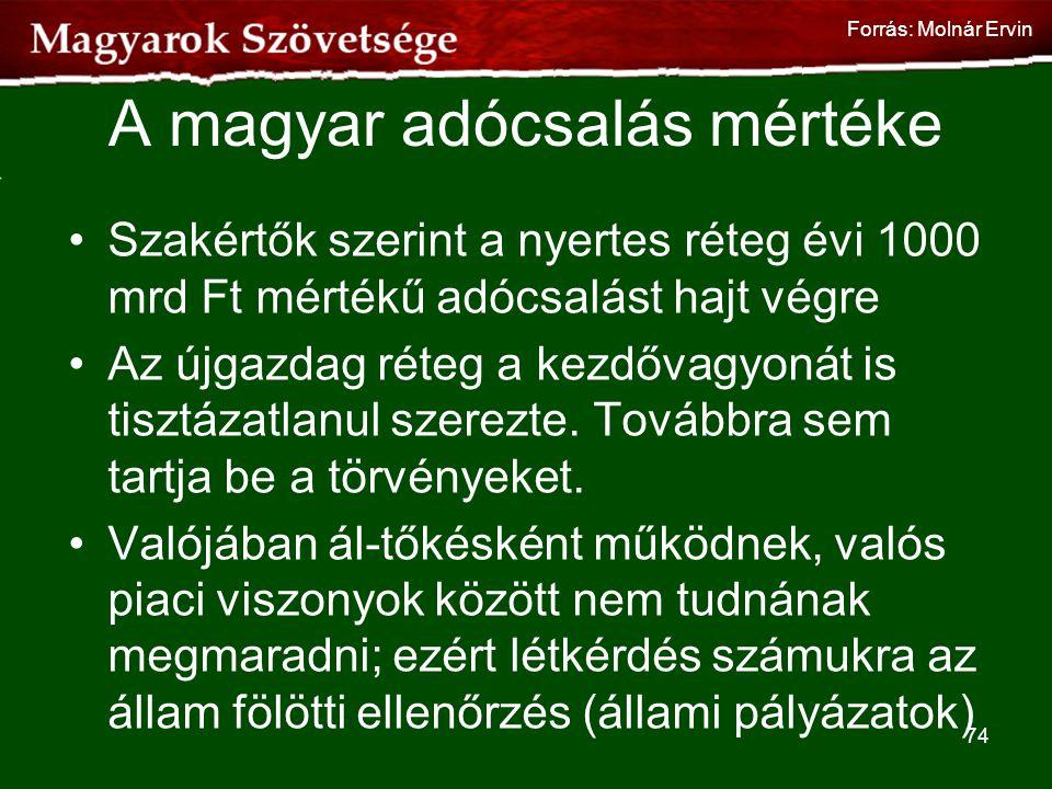 A magyar adócsalás mértéke