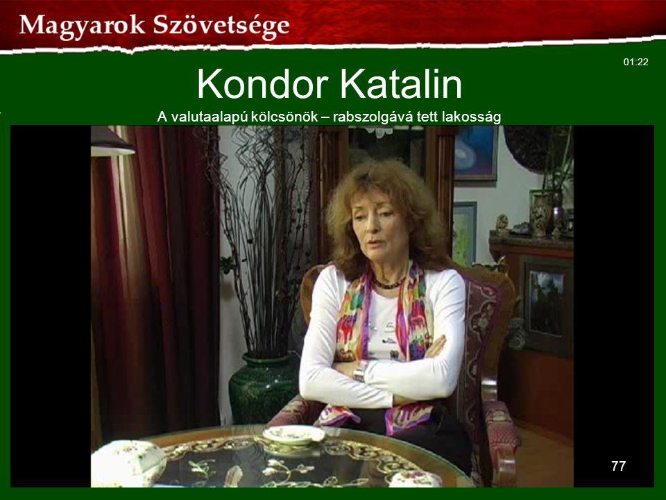 Kondor Katalin A valutaalapú kölcsönök – rabszolgává tett lakosság