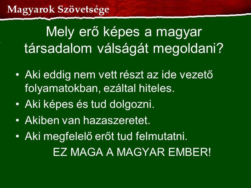 Mely erő képes a magyar társadalom válságát megoldani