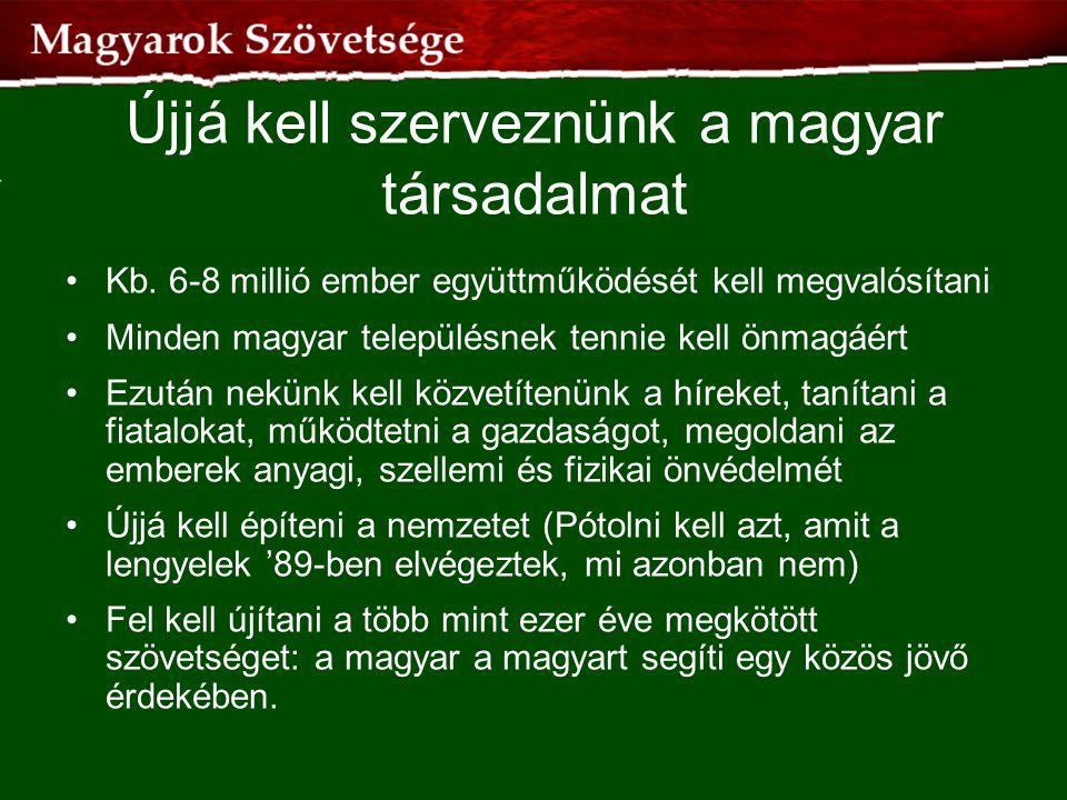 Újjá kell szerveznünk a magyar társadalmat