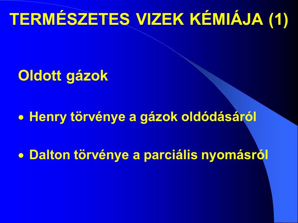 TERMÉSZETES VIZEK KÉMIÁJA (1)
