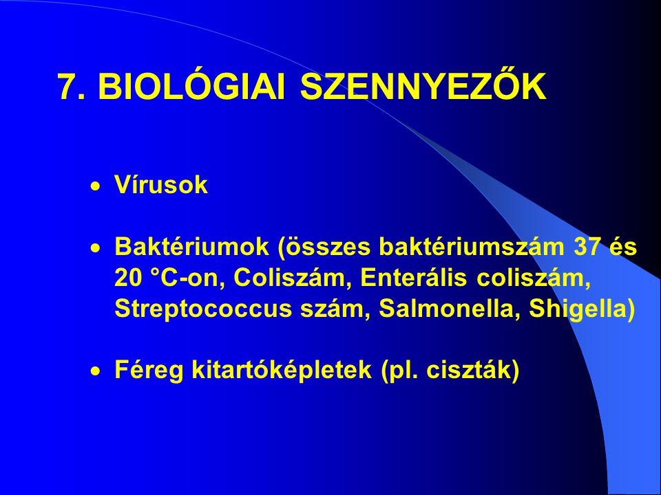 7. BIOLÓGIAI SZENNYEZŐK Vírusok